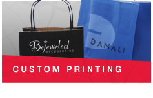 We can custom print or foil hot-stamp your logo on many of our products, please contact your customer service representative for more details